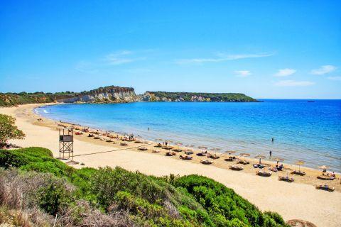 Gerakas: An organized beach.