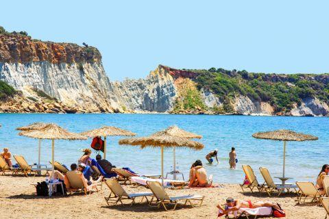 Gerakas: An organized spot in Gerakas beach.
