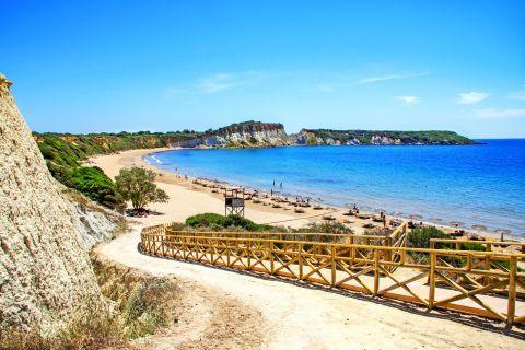 Gerakas: A narrow path that leads you to Gerakas beach.