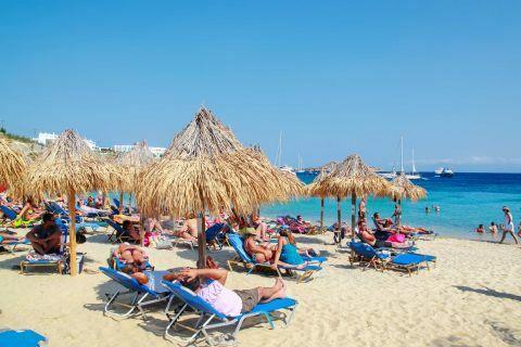 Paradise: Paradise sandy beach in Mykonos