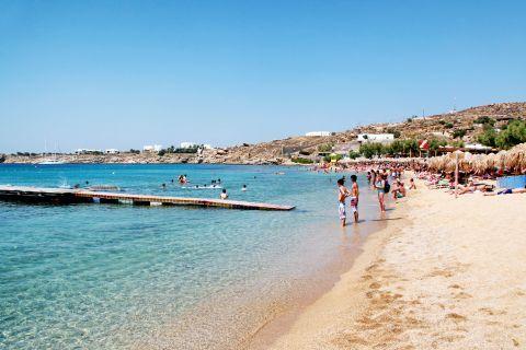 Paradise: The well-organized Paradise beach