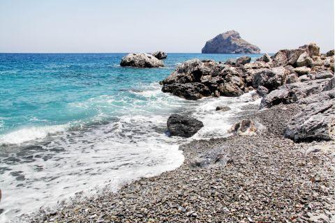 Agia Anna: A rocky spot on Agia Anna beach