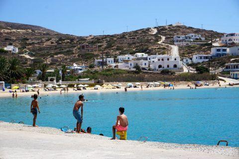 Port beach: Children having fun