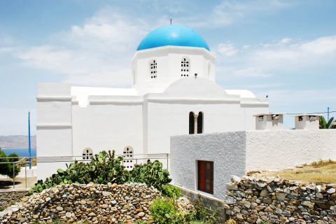 Panagia: A Cycladic church with a blue dome