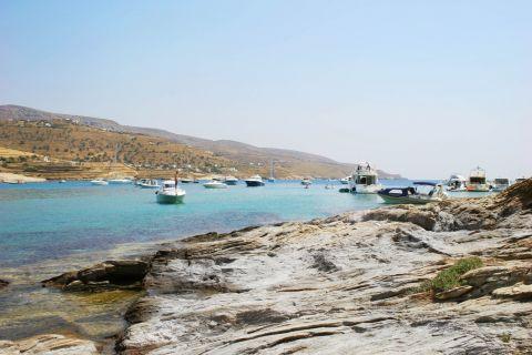 Koundouros beach: Fishing boats