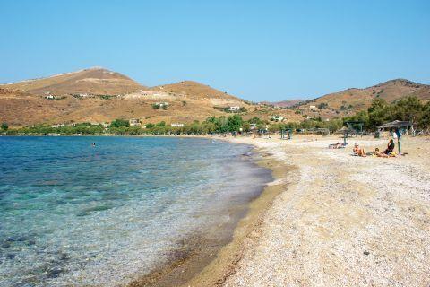 Otzias beach: Crystal clear waters