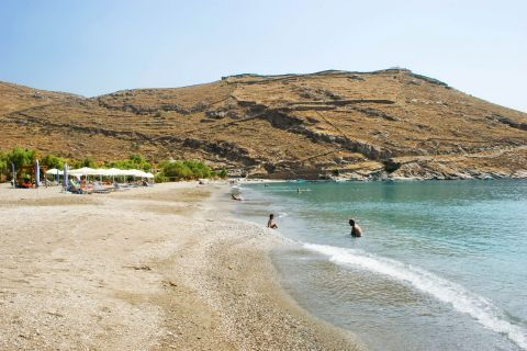 Pisses beach: Hills, sand and turquoise waters