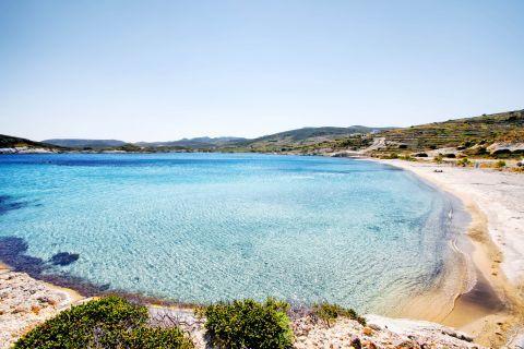 Agios Georgios: Panoramic view of Agios Georgios beach