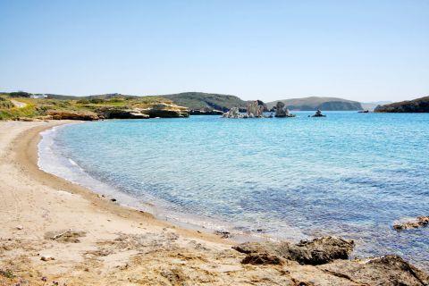 Mavrospilia: Azure waters