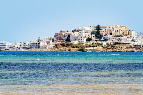 Town: Distant view of Naxos Town