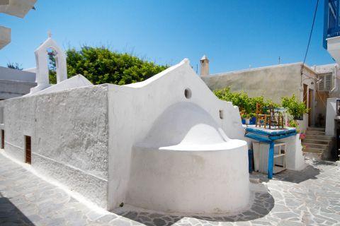 Town: A whitewashed chapel