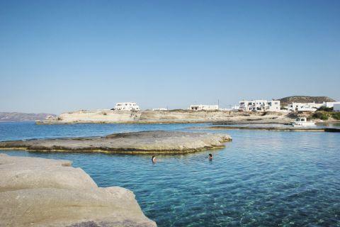 Pollonia beach: Amazing blue waters