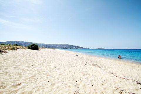 Plaka: Sandy beach