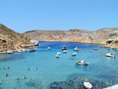 Heronissos: Blue waters and fishing boats