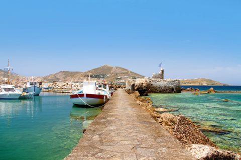 Naoussa: At the small port of Naoussa