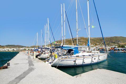 Naoussa: Sailing boats