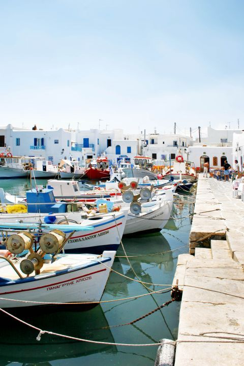 Fishing boats in Naoussa