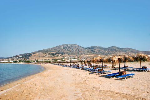 Golden Beach: Golden beach is well organized with umbrellas and sun loungers