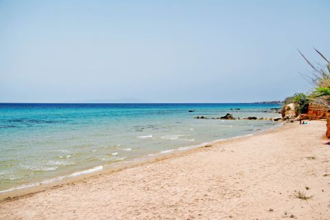 Golden Beach: Sand and blue waters