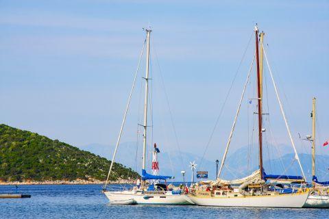 Frikes Village: View of sailing boats.