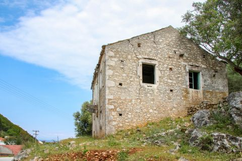 Frikes Village: A stone built house.
