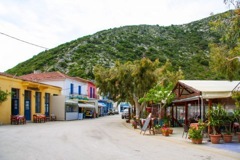 Frikes Village: Restaurants and cafes at a central spot of Frikies village.