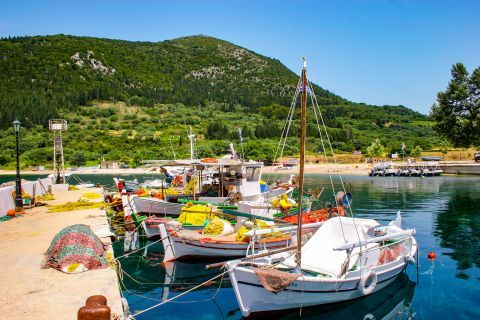 Polis: Small port with fishing boats.