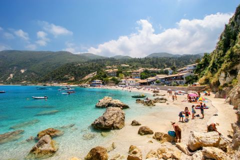 Agios Nikitas Village: The amazing beach of Agios NIkitas