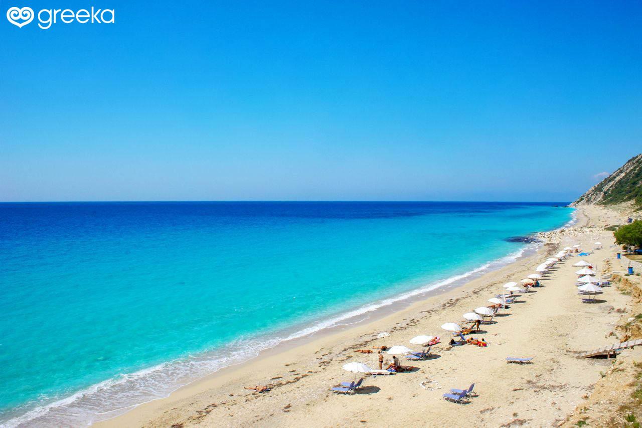 Lefkada Pefkoulia beach - Lefkada Beaches | Greeka.com