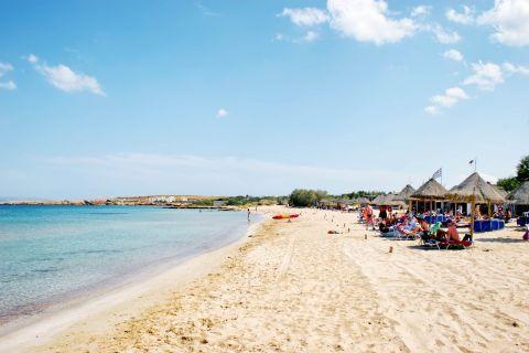 Santa Maria: People relaxing on Santa Maria beach