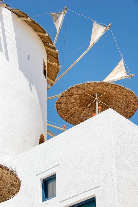 Firostefani: Under a windmill