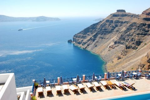 Firostefani: Beautiful sea-view