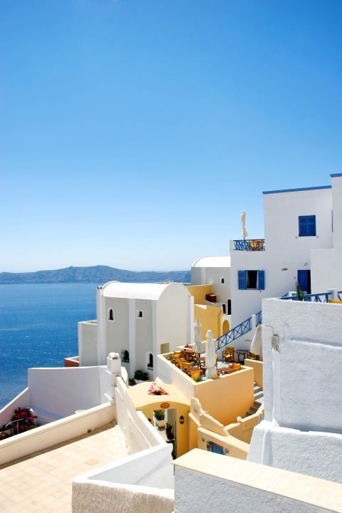 Firostefani: Small Cycladic houses built close to each other