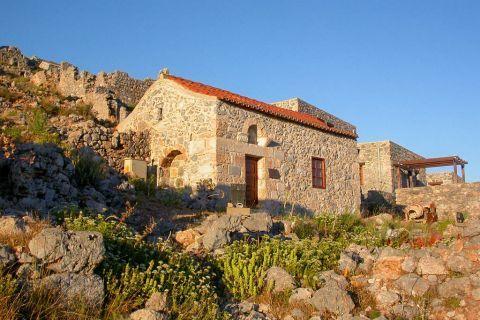 Pothia Town: Stone built constructions near the Castle of Pothia.