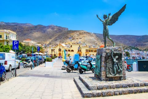 Pothia Town: The Nike statue in Pothia town, Kalymnos