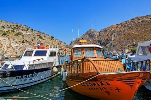 Vathy: Fishing boats.