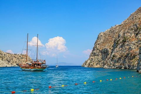 Vathy: Sailing on the blue waters of Kalymnos.
