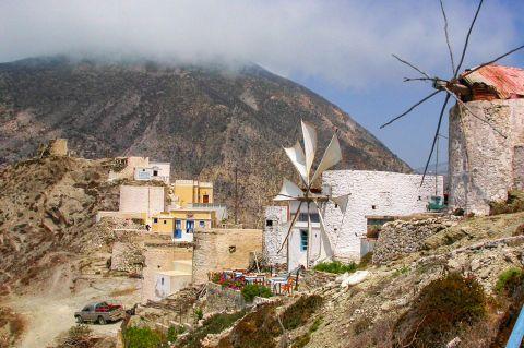 Olympos: Old windmills.