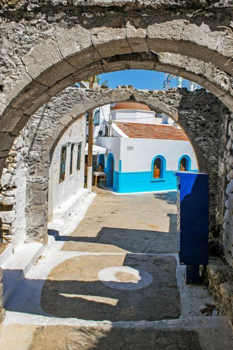 Emporios: Stone built arches.
