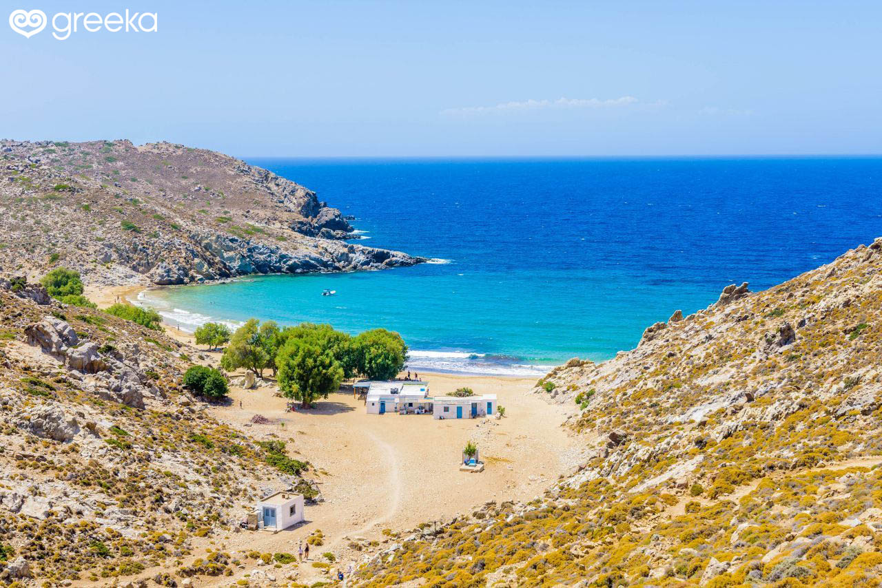 Patmos Psili Ammos beach: Photos, Map | Greeka
