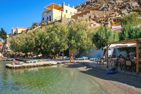 Nimborio or Emborios beach: Turquoise waters.
