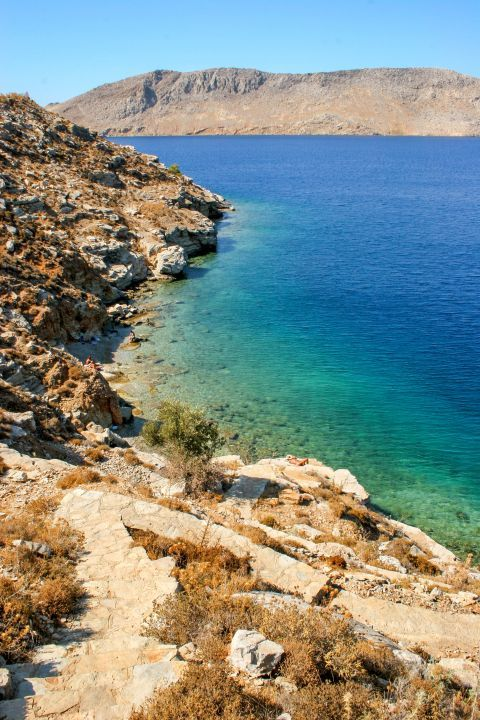 Beach between town and Nimborio: A stunning, magical place