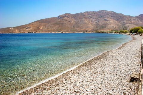 Livadia beach: Crystal clear waters.