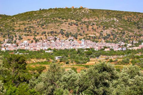 Olympi: Olympi village is surrounded by dense vegetation.