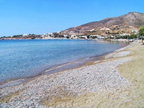 Finikas: A partly sandy, partly pebbled beach