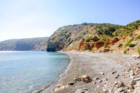 Apothyka is a small and secluded beach