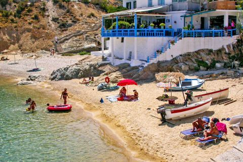 Armenistis beach: Armenistis is a quite small fishing village.
