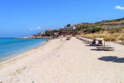 Livadi: Livadi beach consists of fine thin sand and crystal clear waters.