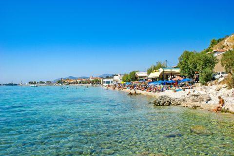 Pythagorio beach: Crystal clear waters.