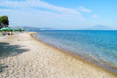 Heraion: Amazing sea view from Heraion beach.